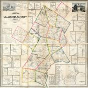 Caledonia County 1858 Wall Map 36x36, Caledonia County 1858 Wall Map